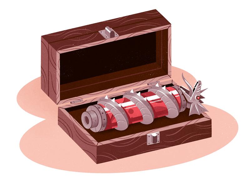Blood Vial narrative props procreate dragon box vial blood illustration