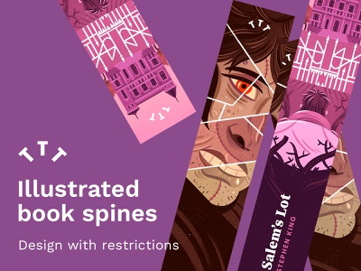 Illustrated Book Spines skillshare teaching spine book spine bookdesign book editorial design illustration