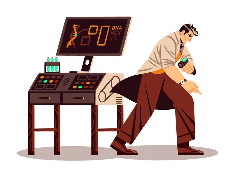 Dangerous Science! wallpaper dna science teaching skillshare design illustration character