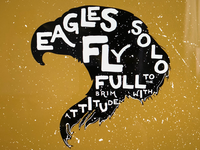 Eagles fly solo