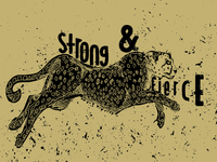 Leopard strong + fierce