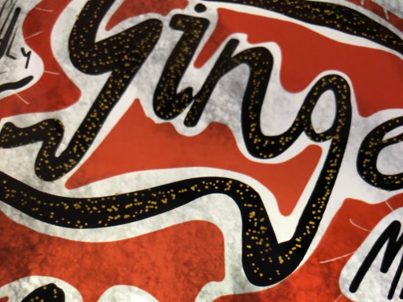 Ginger ale design studio typography hand lettering designer packaging beer ginger ale