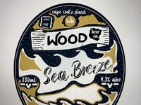 Wood beer label