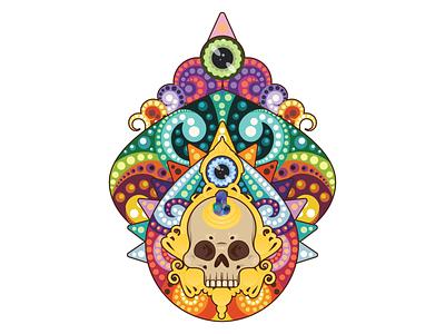 Divinité (@mpgautheron) vector dots art adobe illustrator 2d skull mpgautheron illustration illustrator