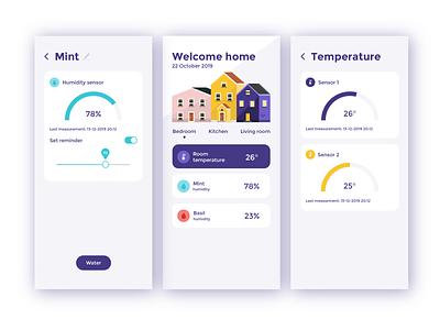 smart home app application 2d adobe illustrator app design app illustrator vector ui flat design