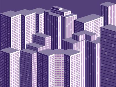 City city monochrom vector landscape flat design adobe illustrator illustration 2d