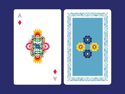 Polish folk inspired cards cards folkart polish weekly warm-up vector design flat adobe illustrator illustration 2d