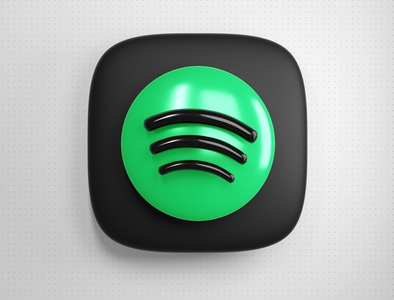 Spotify 3D Icon music app music thebigbangicons icon 3d
