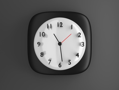 iOS Clock 3D Icon thebigbangicons app design apple ios11 ios7 app ios app icon 3d ios