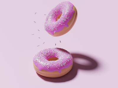 Donuts experiment using Blender