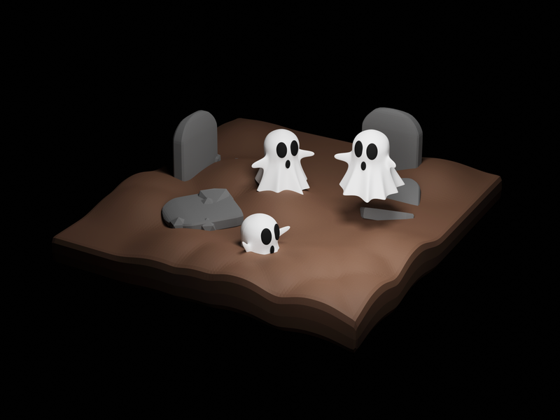 Ghosty Graves dribbbleweeklywarmup grave ghost