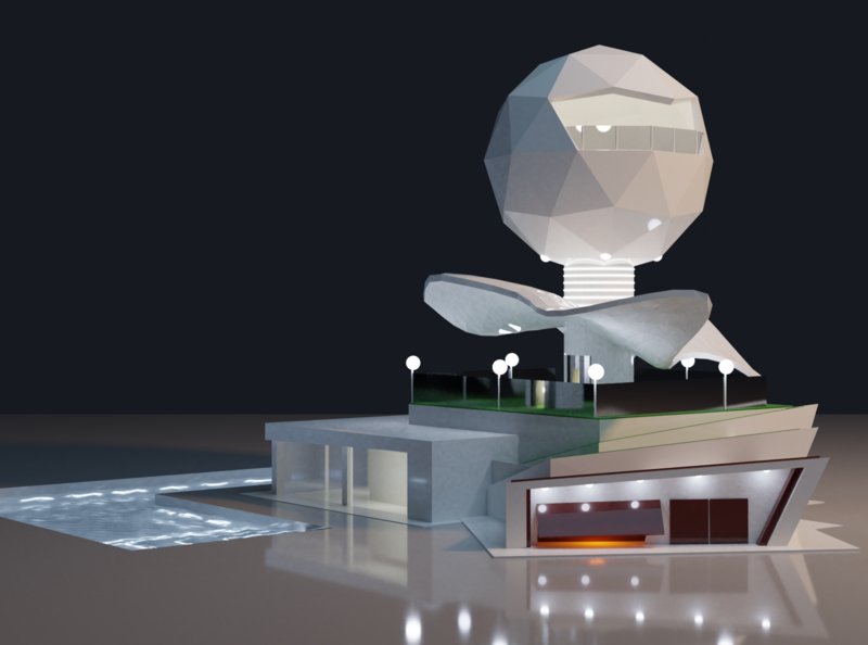 Trying architect design inspired by Zaha Hadid (RIP) blender architechture zaha hadid 3d