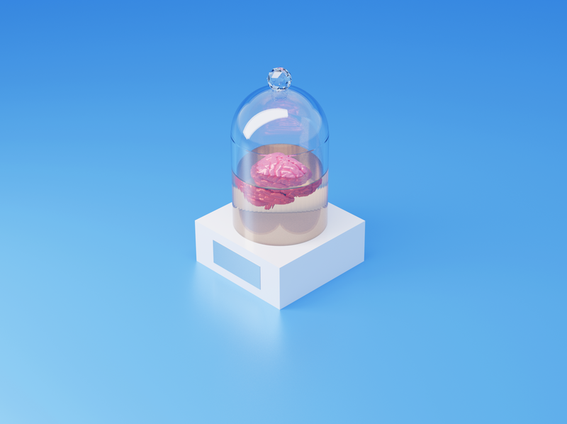 Brain in a box blender box brain 3d