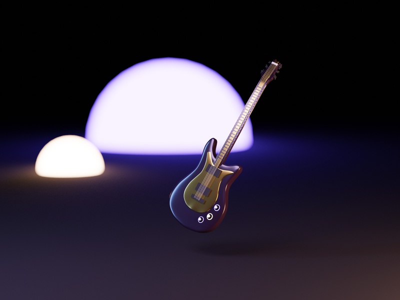 Electric Guitar blender 3d electric guitar