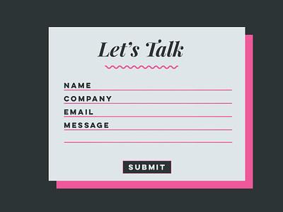Contact Form type flat website vector web ui design