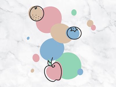 little fruit jam lines blueberry orange apple marble texture color line fruit