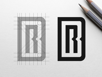 R+B+D Logo Concept Grid identity brand grid bold inspiration logo monogram