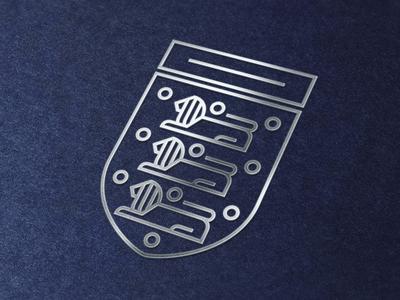 Minimal England Badge (Metallic) mockup football brand logo redesign minimal crest badge england