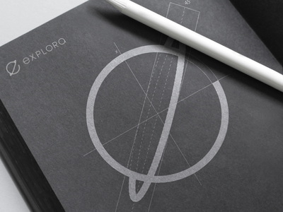 'Explora' Logo Grid concept design graphic inspiration space app logomark sketch sketchbook construction brand logo grid