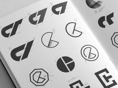 C + T Monogram Exploration. rebrand redesign inspiration brand graphic designer monogram sketchbook design logo logomark