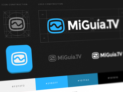MiGuia.TV Guidelines icon visual identity tv mark inspiration logoinspirations manual ios uiux graphic design redesign rebranding guidelines brand logomark app