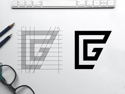 F+G Monogram Grid sketch identity brand monogram portfolio logo inspiration graphic design design