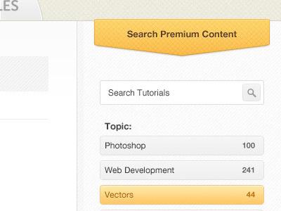 Tuts+ Premium v2 tuts premium search interface