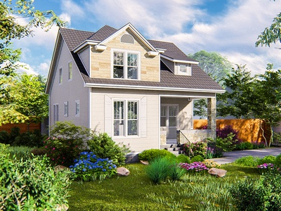 Render for small house. archviz 3d sketchup architecturalvisualization lumion landscaping architecture