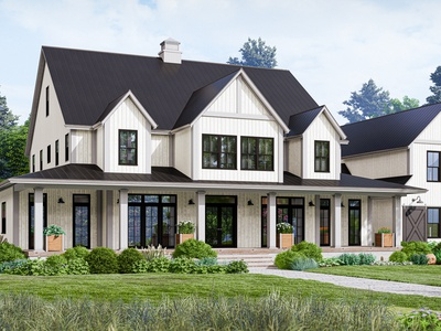 Architectural visualization for new house project.