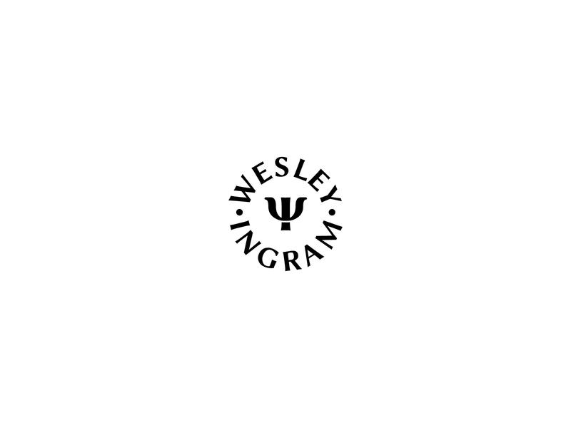 WESLEY INGRAM psychology psychologist letter ψ letter w letter i monogram logo