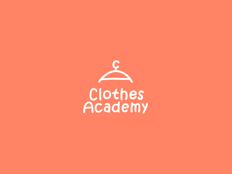 Clothes Academy handle letter a letter c shop kids logo