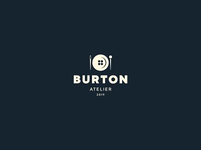 BURTON uniform threads tailoring restaurant plate needle logo clothes button atelier