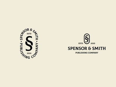 SPENSOR & SMITH text book design letter s monogram company publishing paragraph mark logo