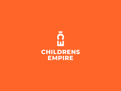 CHILDRENS EMPIRE shop negative space king throne empire letter e letter c crown child logo