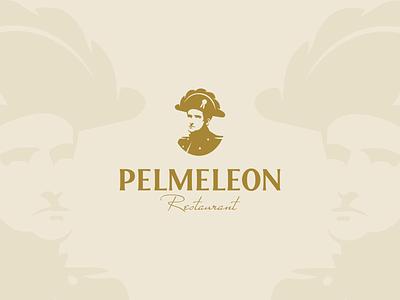 Pelmeleon design restaurant hat ravioli pelmenis dumpling napoleon logo