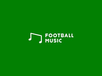 Football music minimalism simple music notes gates football logo
