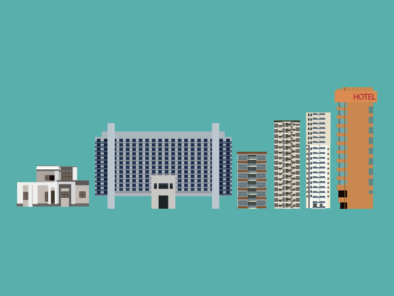 WIP Buildings flat design building buildings house convention center skyscraper hotel wip