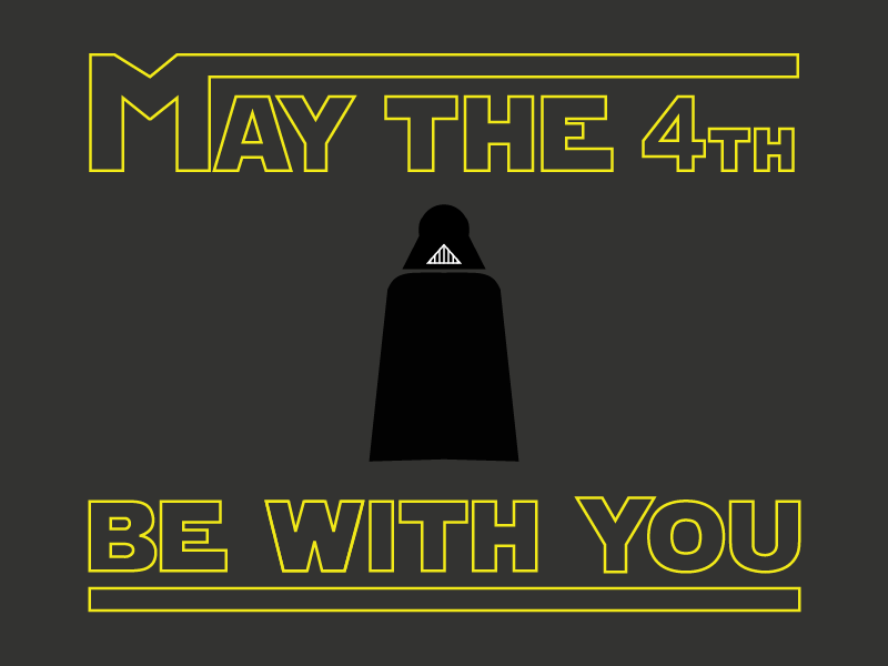 May The 4th Be With You star wars star wars illustration flat design maythe4thbewithyou