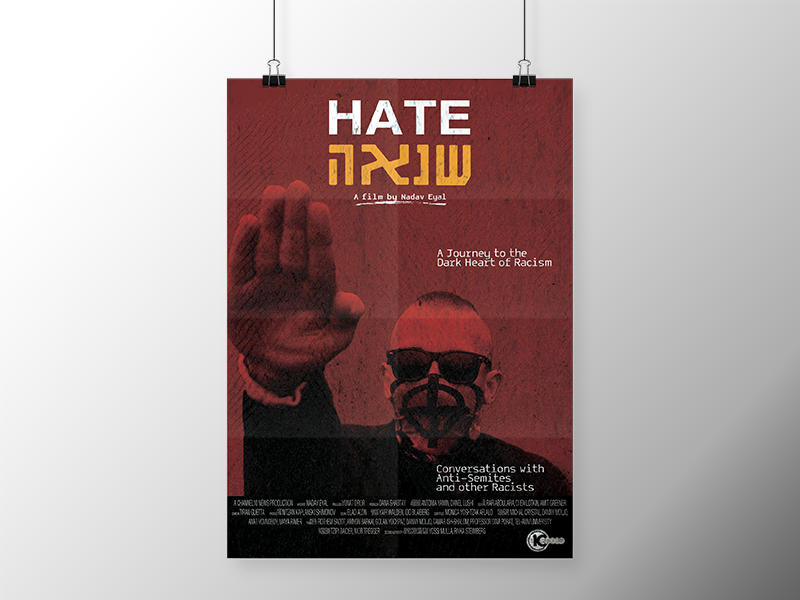 """Hate"" (Film) Poster  broadcast tv documentary film movie hate poster design print"