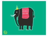 Elephant. Vector.