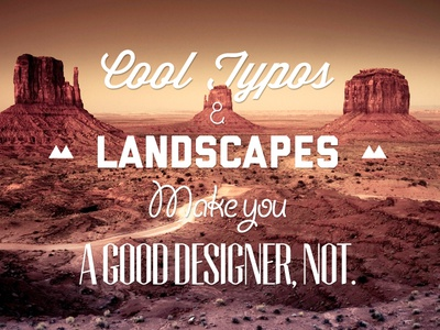 The secret to good typography, not