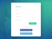 Daily UI :: 001 - Sign Up