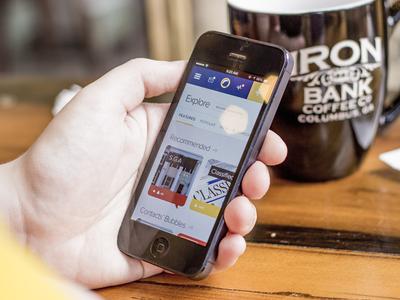 More Emory Bubble mobile app screens