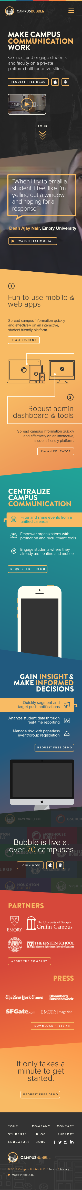 Dribbble home mobile