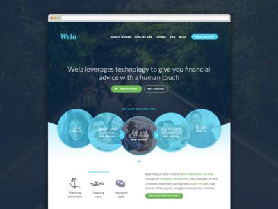 Wela personas homepage personas marketing desktop web financial wela