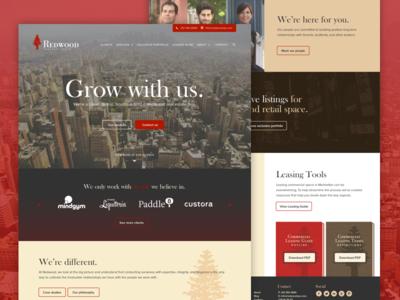 Redwood website launch marketing landing page design website real estate