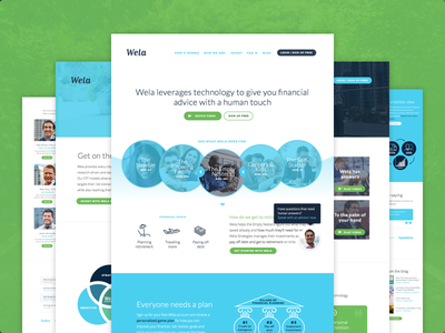 Wela is live! website web ux ui responsive marketing landing page financial wela