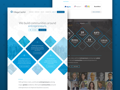 Village Capital Launch! global start ups financial marketing site landing page village capital