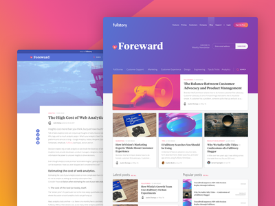 Foreward, the new FullStory blog colorful cards search posts blog foreward fullstory