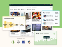 Matcha Homepage Hero ecommerce content marketing integrations analytics content matcha